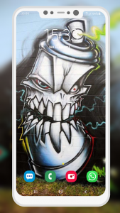 اسکرین شات برنامه Graffiti Wallpaper 6