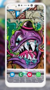 اسکرین شات برنامه Graffiti Wallpaper 5