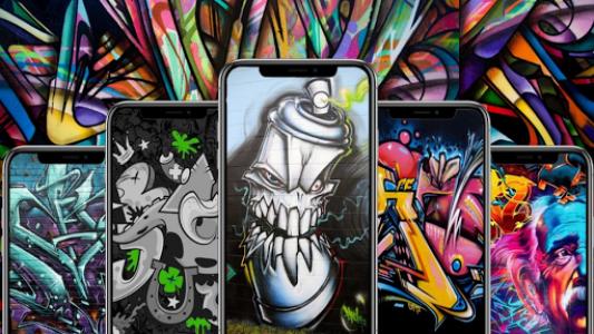 اسکرین شات برنامه Graffiti Wallpaper 1