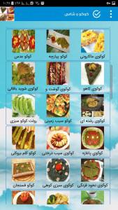 اسکرین شات برنامه طرز تهیه انواع کوکو , انواع کباب شامی 5