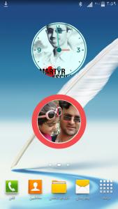 اسکرین شات برنامه ویجت ساعت نما - ساعتی با عکس شما ! 3