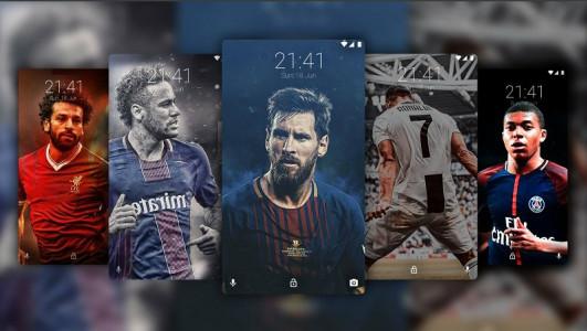 اسکرین شات برنامه تصویر زمینه فوتبالی ، رونالدو ، مسی 1