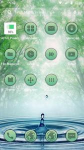 اسکرین شات برنامه Forest Green Frees theme-APUS Launcher theme 2