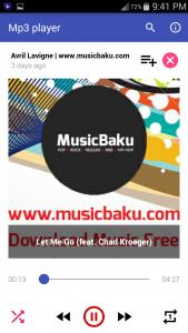 اسکرین شات برنامه Free Mp3 player - Audio Music 1