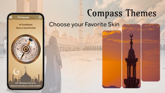 اسکرین شات برنامه Qibla Compass - Find Mecca Direction 7