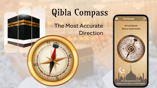 اسکرین شات برنامه Qibla Compass - Find Mecca Direction 1
