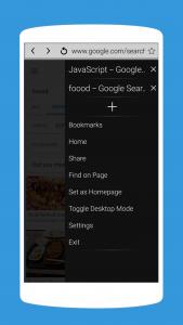 اسکرین شات برنامه A Web Browser: Fast Internet Browser for Android 1