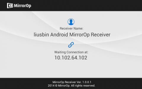 اسکرین شات برنامه MirrorOp Receiver 1