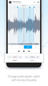 اسکرین شات برنامه AudioStretch: Music Pitch and Speed Changer 3