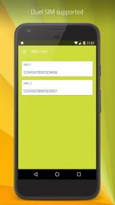 اسکرین شات برنامه IMEI Info (Dual SIM Supported) 2