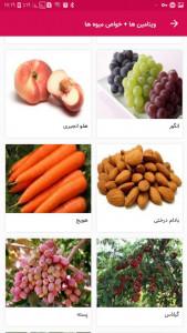 اسکرین شات برنامه ویتامین ها + خواص میوه ها 6