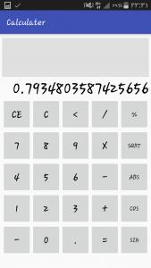 اسکرین شات برنامه ماشین حساب 1