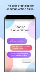 اسکرین شات برنامه Spanish Conversation Practice - Cudu 1