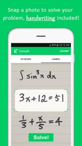 اسکرین شات برنامه Cymath - Math Problem Solver 1