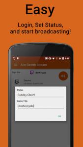 اسکرین شات برنامه Ace Live Streaming & PC Mirroring 4