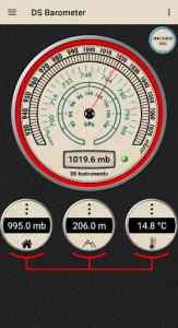 اسکرین شات برنامه DS Barometer - Altimeter and Weather Information 4