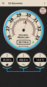 اسکرین شات برنامه DS Barometer - Altimeter and Weather Information 3