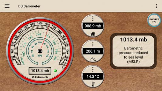 اسکرین شات برنامه DS Barometer - Altimeter and Weather Information 1