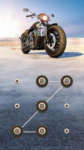 اسکرین شات برنامه AppLock Theme Motorcycle – Paid Theme 1