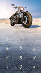 اسکرین شات برنامه AppLock Theme Motorcycle – Paid Theme 2