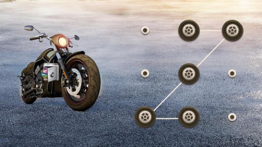 اسکرین شات برنامه AppLock Theme Motorcycle – Paid Theme 4