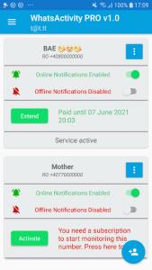 اسکرین شات برنامه Whatsactivity PRO 1