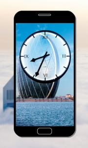 اسکرین شات برنامه Dubai Clock Wallpapers - Analog Clock Backgrounds 6
