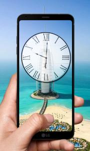 اسکرین شات برنامه Dubai Clock Wallpapers - Analog Clock Backgrounds 2