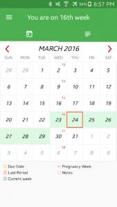 اسکرین شات برنامه Pregnancy Week By Week 5