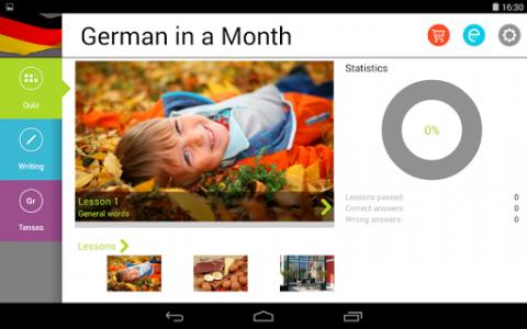 اسکرین شات برنامه German in a Month: Free listening language course 7