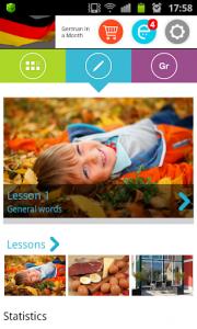 اسکرین شات برنامه German in a Month: Free listening language course 1