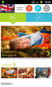 اسکرین شات برنامه English in a Month: FREE Vocabulary & Grammar 1