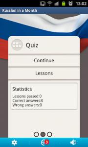 اسکرین شات برنامه Russian in a Month: Free lessons&Listening course 1