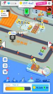 اسکرین شات بازی Idle Port Tycoon - Sea port empire 2