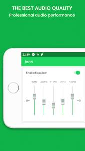 اسکرین شات برنامه SpotiQ - Sound Equalizer and Bass Booster 5