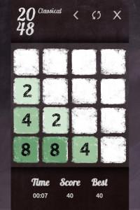 اسکرین شات بازی 2048 classical 1