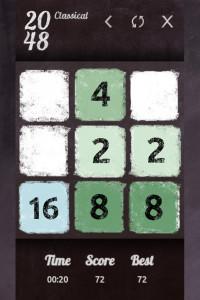 اسکرین شات بازی 2048 classical 2