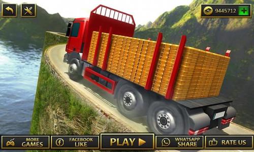 اسکرین شات برنامه Uphill Gold Transporter Truck Drive 3