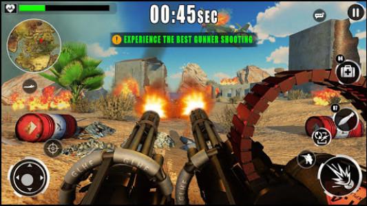 اسکرین شات بازی Army War Shoot Fire :Gunship Gunner Guns Simulator 3