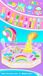 اسکرین شات برنامه Rainbow DIY Makeup Kit Slime –Unicorn Star Slime 2
