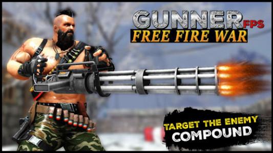 اسکرین شات بازی Gunner FPS Free Fire War : Offline Shooting Game 1