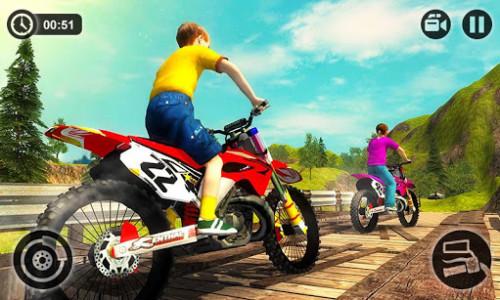 اسکرین شات بازی Kids Downhill Mountain Motorbike Riding 4