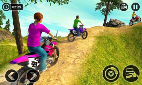 اسکرین شات بازی Kids Downhill Mountain Motorbike Riding 5