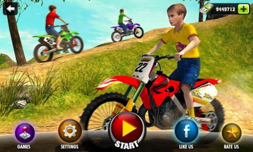 اسکرین شات بازی Kids Downhill Mountain Motorbike Riding 1