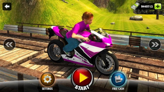 اسکرین شات بازی Kids Downhill Mountain Motorbike Riding 7