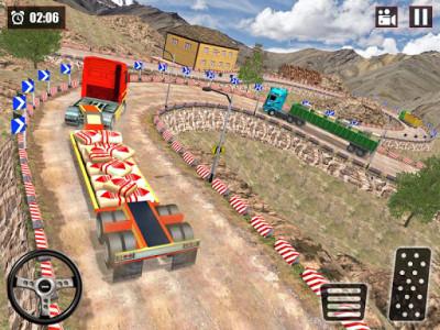 اسکرین شات بازی Offroad Snow Trailer Truck Driving Game 2020 8