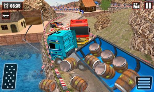 اسکرین شات بازی Offroad Snow Trailer Truck Driving Game 2020 6