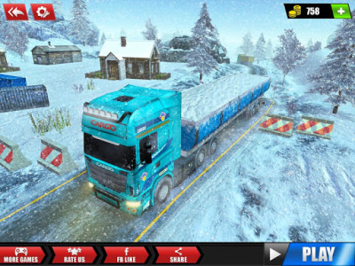 اسکرین شات بازی Offroad Snow Trailer Truck Driving Game 2020 7
