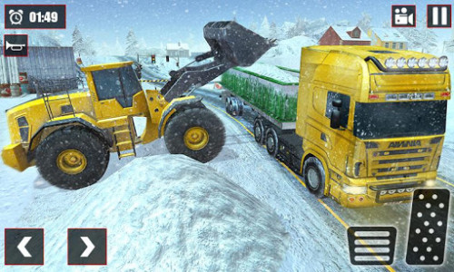 اسکرین شات بازی Offroad Snow Trailer Truck Driving Game 2020 4
