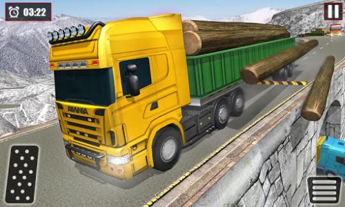 اسکرین شات بازی Offroad Snow Trailer Truck Driving Game 2020 3